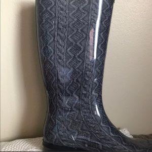 Gray UGG Rain boots size 8